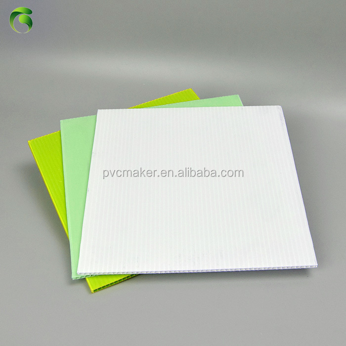 Green 2018 White Corrugated <strong>Sheet</strong> pp Corflute <strong>Sheet</strong> Size1.2m x 2.5m 3mm 5mm thick