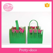 Laser cut shape polyester woven fabric handle basket from Alibaba manufacturer