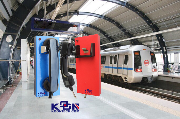 Public phone KNZD-14 auto dial NO buttons emergency telephone Highway call box, Railway, metro