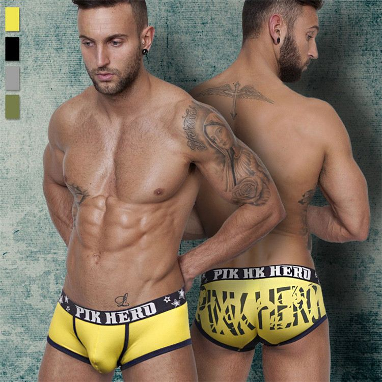 Teen Black <strong>100</strong> cotton underwear mens boxer briefs with cheap price