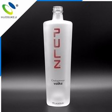 Wholesale 750ml frosted wine vodka glass bottle with screw cap