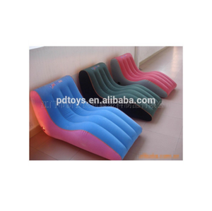 BSCI,ICTI PVC/TPU S shape inflatable fishing chair