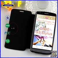 High-grade Silk Print PU Leather Flip Mobile Cell Phone Case For LG D690 G3