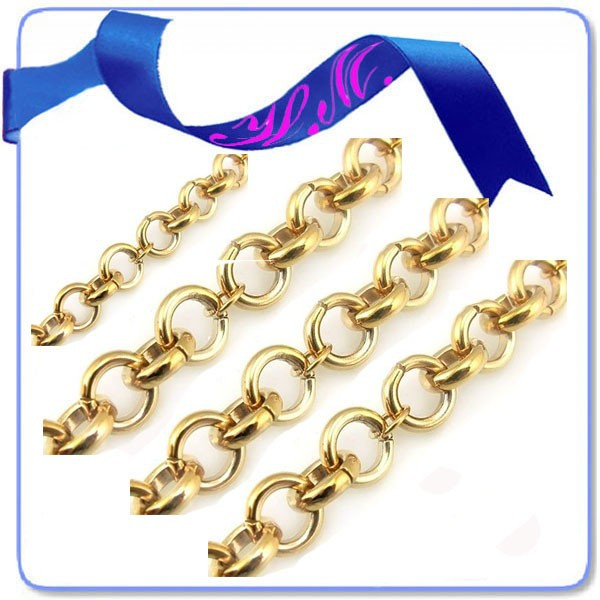 2017 New gold neck chain designs for men rolo chain