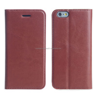 Mobile Phone PU Leather Two Card Slots Case for iPhone 6 Plus