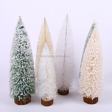 Hot sale 2017 decorated artificial plastic mini snowing Christmas tree