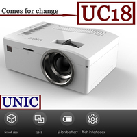 UNIC Cheapest Portable Mini Full HD Battery Powered USB DVD Projector UC18