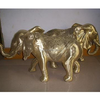 antique hand made bronze elephant sculpture for garden