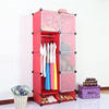 Portable creative environmental Diy closet organizer corner storage cabinets FH-AL0530-5