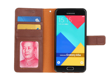 High Quality PU Leather Wallet Case for Samsung A510 Litchi Grain Card Slot Flip Cover TB-0098