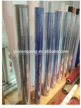 factory roll package soft pvc plastic film hot blue color pvc normal clear film for garments bag tablecloth and shower curtain