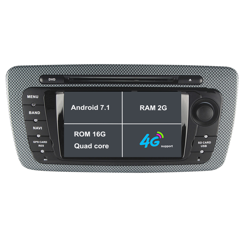 Android 7.1. Two 2 Din 6.2 Inch Car DVD Player For Seat Ibiza 2009-2013 CANBUS Wifi GPS Navigation Radio 2GB RAM Quad Core 16G