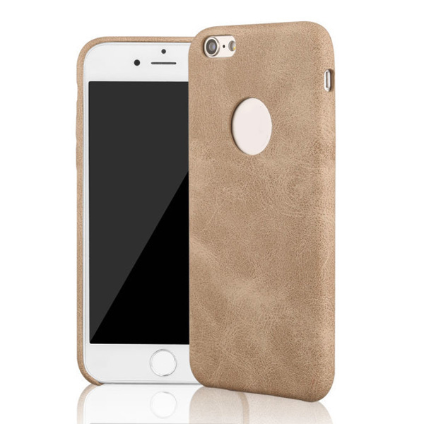 wholesale phone cases for iPhone 6, mobile phone leather case round logo hole phone shell for iPhone6