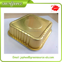 Gold aluminum foil container, tray,plate for steam