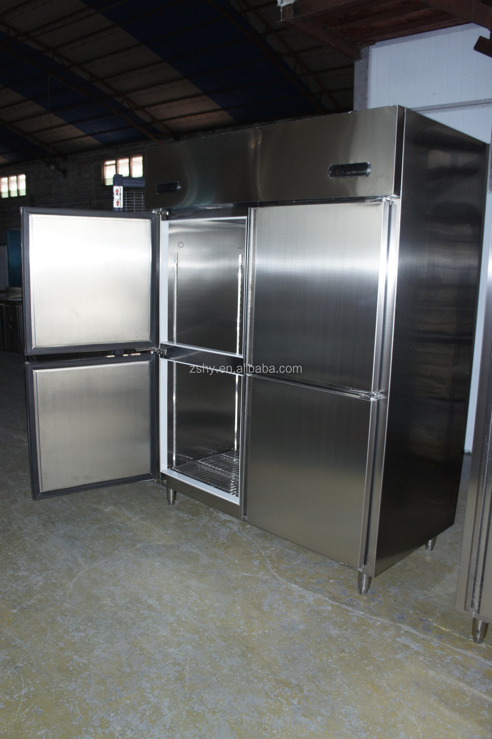 Double Temperature Stainless Steel kitchen refrigerator