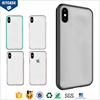 2017 New Arrivals OEM PC+TPU Hybrid Colorful Bumper Mobile Phone Cover UV Printing Transparent Blank Case for iPhone 8