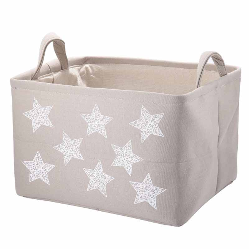 Heavy duty cotton portable foldable baby clothing storage basket