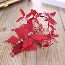 China factory bridal hair accessories french barrette rhinestone hair clips wholesale flower hair barrette