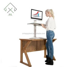 Hot selling movable office standing desk or workstation leg with wheel