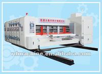 [RD-A1500-3200-4] Automatic high speed 4 color corrugated paper flexo printing slotting die cutting machine