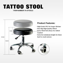 Hydraulic Tattoo Stool With Big Seat Cushion
