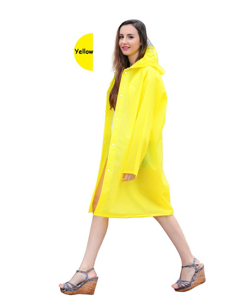 Classic Outdoor Waterproof Windproof Breathable EVA rain coat long hooded rain coat