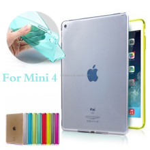 For iPad Mini 4 Case Cover Top Quality Smooth TPU Soft Transparent Case Cover Skin Protector for Apple mini4 Luxury Tablet Bags