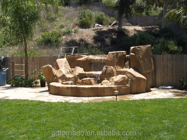 Best Style Customized Artificial rock slides for swimming pools with slide wholesale garden descoration