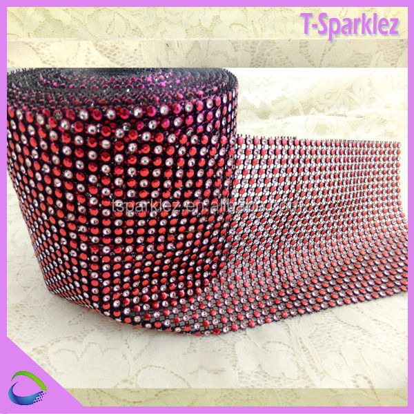 3mm rhinestone mesh strip wholesale sewing accessories