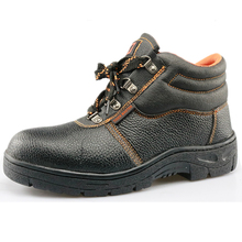 PU upper rubber sole cemented cheap mining industrial safety shoes