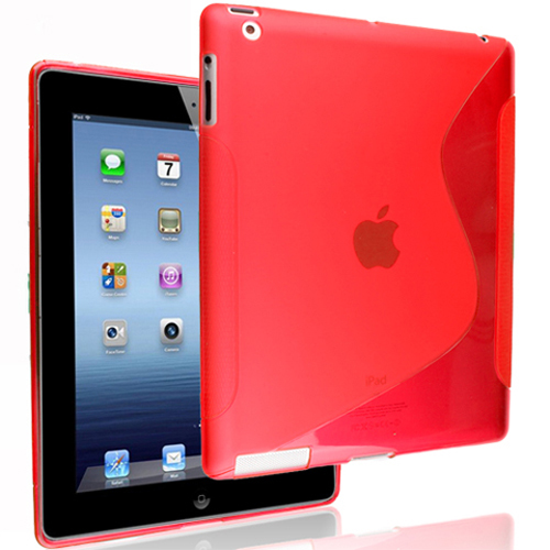 Stylish!!!Ultra thin Transparent S Line TPU Case for iPad 3