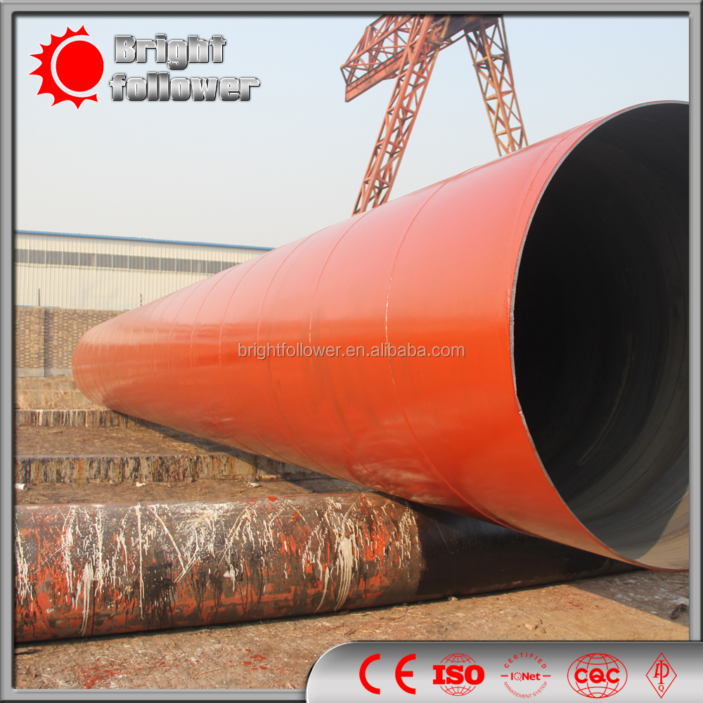 SSAW Carbon Spiral/Helical Welded/Welding Helix Screw Thread Steel Pipe/Tube