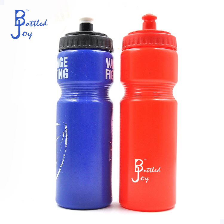 new design 700ml long neck plastic drinking water bottle with handle