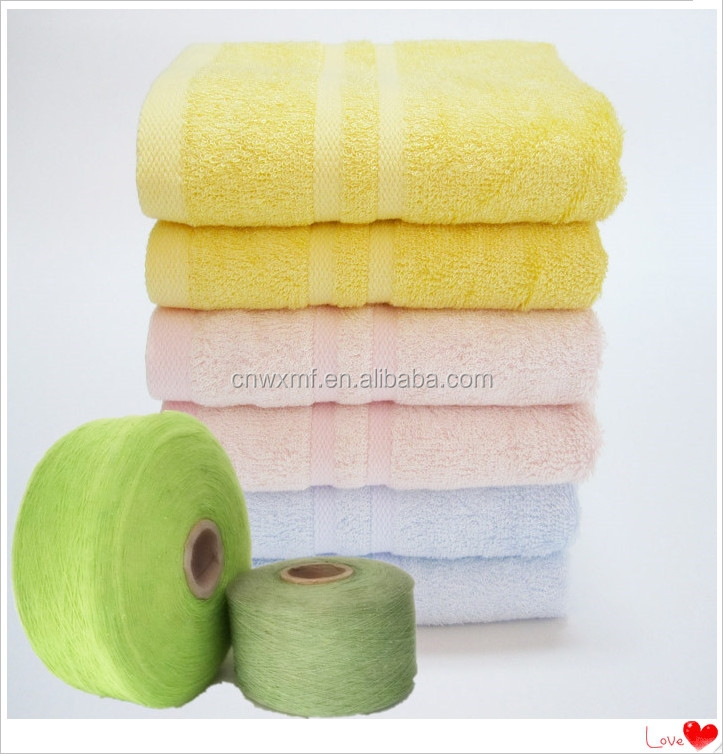 Ne 12s recycle cotton mix polyester for towel fabric yarn