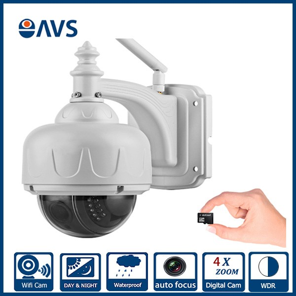 HD Outdoor 4 Inch Wifi Wireless PTZ Waterproof 4X Zoom 1.0MP Speed Dome IP Camera