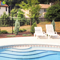 Australia Powder Coated Flat Top Aluminium Pool Fence Slat Fencing