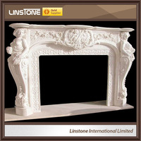 Home decoration natural cast iron fireplace insert
