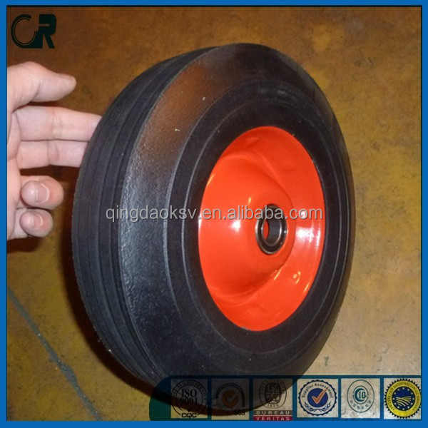 Qingdao manufacturer cheap 10x2.5 solid rubber tire