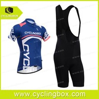 Competitive price compression cycling blouses with bib black shorts