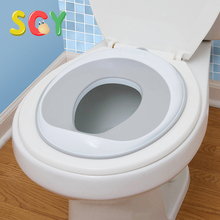 SCY T002 Potty Training Seat PP Green/ Purple /Blue /Orange NO tool 1pcs 36.6*29*6cm Urine Splash Guard for Boys and Girls