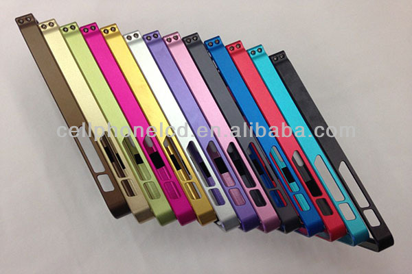 2015 hot products 0.7mm Slim Aluminium Metal Bumper Case with Small Screw for iPhone 5C