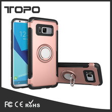 TPU PC Ring Holder Phone Cover Armor for Samsung S8/S8plus Case With Car Holder Magnet 360 degree