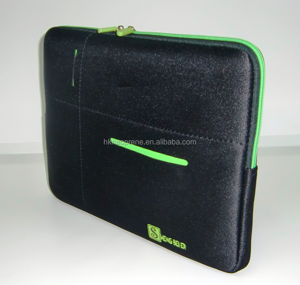 factory price soft neoprene 13.3inch neoprene laptop sleeve with pocktet