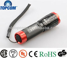 Cree led Zoom lens flashlight/Focusable led lights & Adjustable focus Torch Light