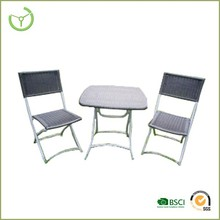 Chair with table and armchair - rattan furniture