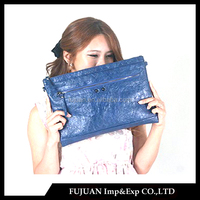 Fashion shining pu leather korean clutch bag lower price