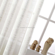 White linen jacquard style home drapery curtain sheer fabric