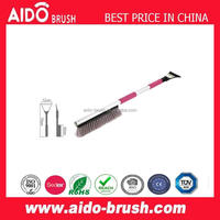 Popular Telescopic Heavy-duty soft bristle Snow Brush With Ice Scraper