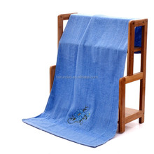 Home textile 100% cotton organic custom embroidery bath towel