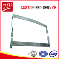 Stainless steel furniture parts, armrest for chair